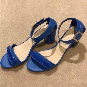 Jeweled Blue Sandals